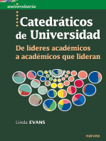 Catedráticos de Universidad: De líderes académicos a académicos que lideran