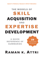 The Models of Skill Acquisition and Expertise Development