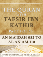 The Quran With Tafsir Ibn Kathir Part 7 of 30: Al Ma'idah 082 To Al An'am 110