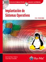 Implantación de Sistemas Operativos (GRADO SUP.).: SISTEMAS OPERATIVOS