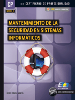 Mantenimiento de la Seguridad en Sist. Inf. (MF0959_2)