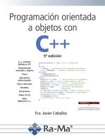 Programación orientada a objetos con C++, 5ª edición.