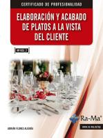 Elaboración y acabado de platos a la vista del cliente (MF1053_2)