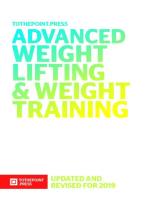 Advanced Weight Lifting & Training