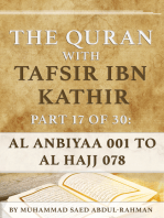 The Quran With Tafsir Ibn Kathir Part 17 of 30