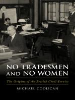 No Tradesmen and No Women: The Origins of the British Civil Service