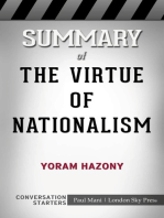 Summary of The Virtue of Nationalism