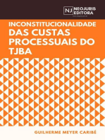 Inconstitucionalidade das custas processuais do TJBA