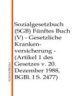 Sozialgesetzbuch (SGB) - Fünftes Buch (V)