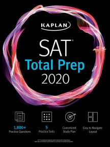 Best Sat Prep Book 2020.Sat Total Prep 2020 By Kaplan Test Prep Read Online