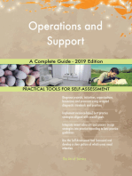 Operations and Support A Complete Guide - 2019 Edition