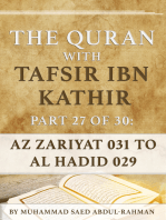 The Quran With Tafsir Ibn Kathir Part 27 of 30