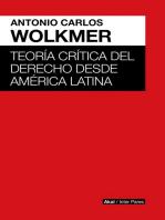 Teoría crítica del derecho desde América Latina