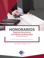 Honorarios. Régimen fiscal de las actividades profesionales. Personas físicas 2019