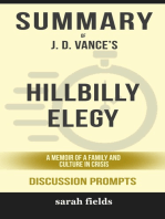 Summary of Hillbilly Elegy: A Memoir of a Family and Culture in Crisis by J. D. Vance (Discussion Prompts)