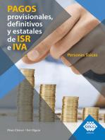 Pagos provisionales, definitivos y estatales de ISR e IVA. Personas físicas 2019