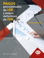 Pagos provisionales de ISR y pagos definitivos de IVA. Personas morales 2019