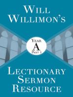 Will Willimon's Lectionary Sermon Resource