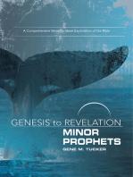 Genesis to Revelation Minor Prophets Participant Book