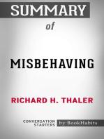 Summary of Misbehaving by Richard Thaler   Conversation Starters