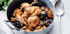 Chicken with Pomegranate Molasses, Prunes & Potatoes