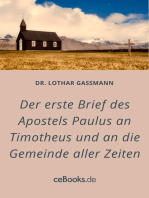 Der erste Brief des Apostels Paulus an Timotheus