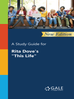 """A Study Guide (New Edition) for Rita Dove's """"This Life"""""""