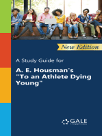 """A Study Guide (New Edition) for A. E. Housman's """"To an Athlete Dying Young"""""""