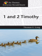 Six Themes in 1 & 2 Timothy Everyone Should Know