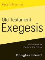 Old Testament Exegesis, Fourth Edition