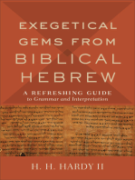 Exegetical Gems from Biblical Hebrew