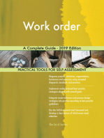 Work order A Complete Guide - 2019 Edition