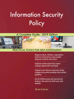 Information Security Policy A Complete Guide - 2019 Edition