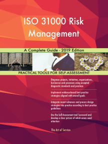 ISO 31000 Risk Management A Complete Guide - 2019 Edition