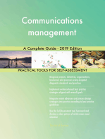 Communications management A Complete Guide - 2019 Edition