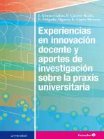 Experiencias en innovación docente y aportes de investigación sobre la praxis universitaria