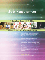 Job Requisition A Complete Guide - 2019 Edition