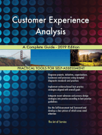 Customer Experience Analysis A Complete Guide - 2019 Edition