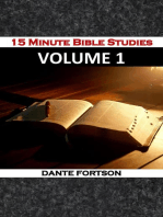 15 Minute Bible Studies
