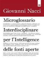Microglossario Interdisciplinare per l'Intelligence delle Fonti Aperte
