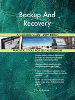 Backup And Recovery A Complete Guide - 2019 Edition