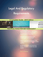 Legal And Regulatory Requirements A Complete Guide - 2019 Edition