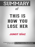 Summary of This Is How You Lose Her