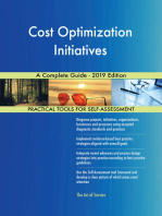 Cost Optimization Initiatives A Complete Guide - 2019 Edition