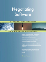 Negotiating Software A Complete Guide - 2019 Edition