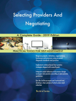 Selecting Providers And Negotiating A Complete Guide - 2019 Edition