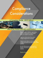Compliance Considerations A Complete Guide - 2019 Edition