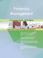 Forensics Management A Complete Guide - 2019 Edition