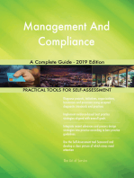 Management And Compliance A Complete Guide - 2019 Edition