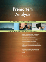 Premortem Analysis A Complete Guide - 2019 Edition
